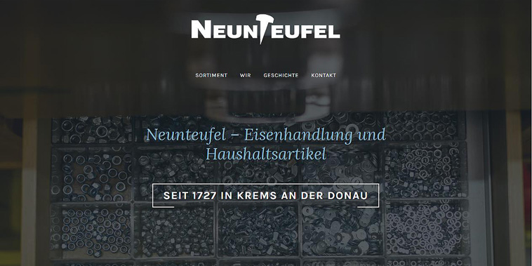 Webauftritt: Eisenhandlung Neunteufel
